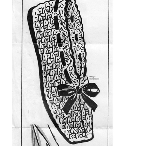 Beginners Crochet Slippers Pattern No 5674
