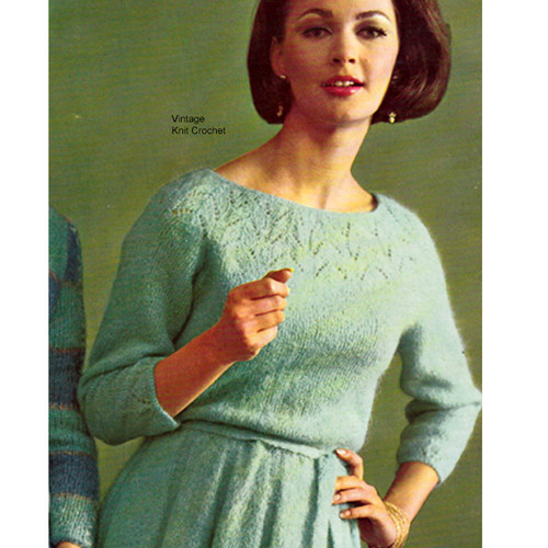 Knitted Dress Pattern in Mohairlaine