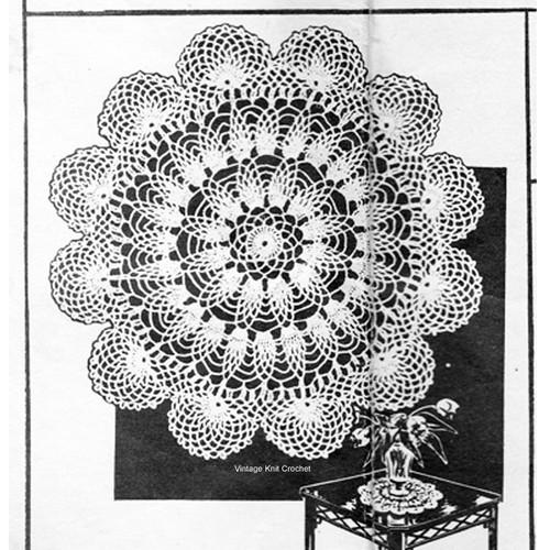 Vintage Illinois Doily Crochet Pattern No 5530