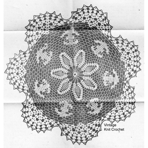 Centerpiece Pineapple Doily Crochet Pattern Illustration