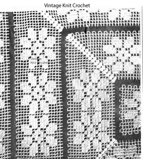 Daisy Filet Crochet Pattern, Tea Cloth