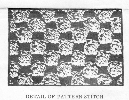 Popcorn Stitch Crochet Illustraiton