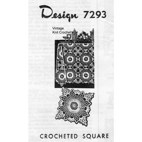 Alice Brooks 7293, Crochet Chain Loop Square Pattern