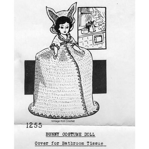 Mail Order 1255 Crochet tissue cover pattern