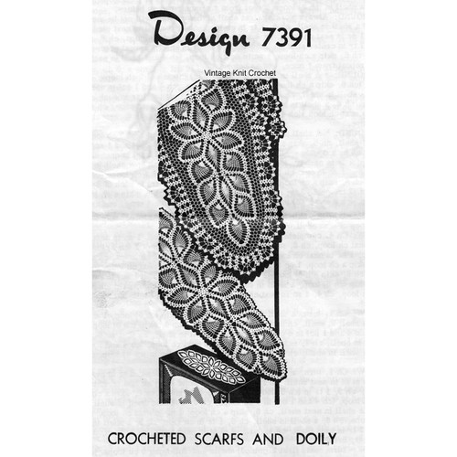 Mail Order Crochet Pineapple Scarf pattern no 7391
