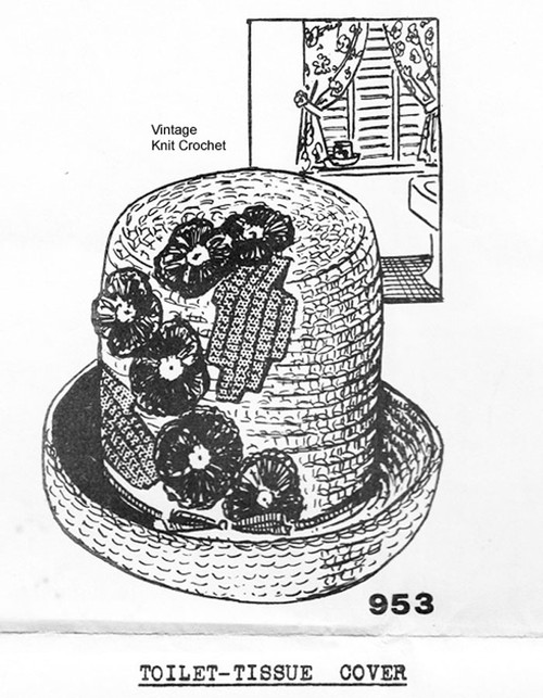Crochet Hat TP Cover Pattern, Mail Order 953