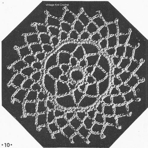 Crochet Medallion Pattern No 7746