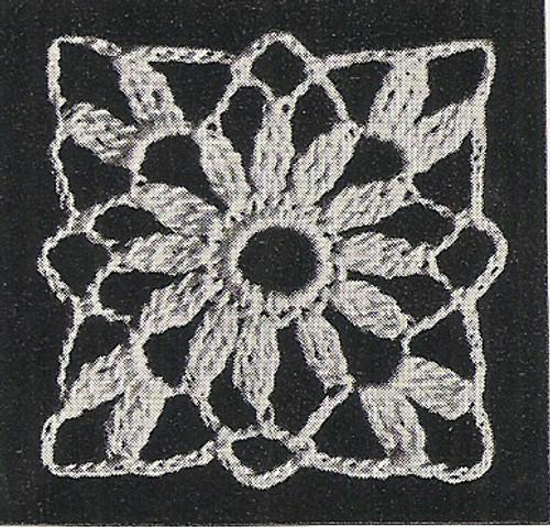 Vintage Crochet Daisy Medallion Pattern