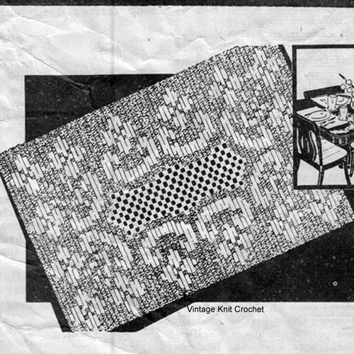 Vintage Cappers Weekly Filet Crochet Scarf Pattern