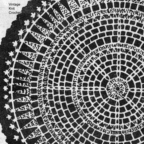 Cappers Weekly Crochet Doily Pattern, Wreath of Leaves