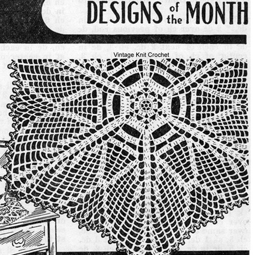 Vintage Star Leaf Crocheted Doily, Cappers Weekly