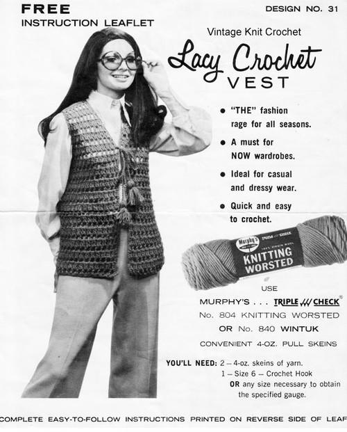 Free Beginners Crochet Vest Pattern