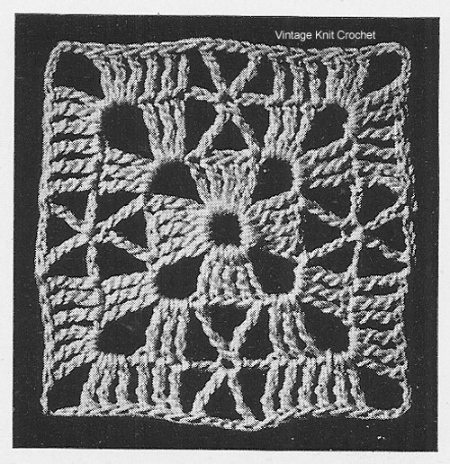 Small Crochet Block Medallion Pattern Illustration