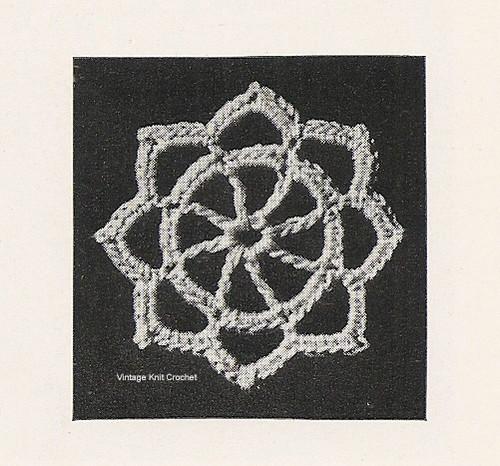 Small Crochet Medallion Illustration