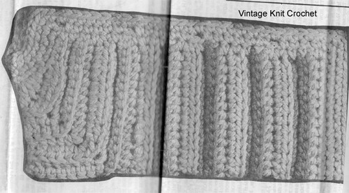 Crochet Pattern Stitch Illustration for Childs Cardigan