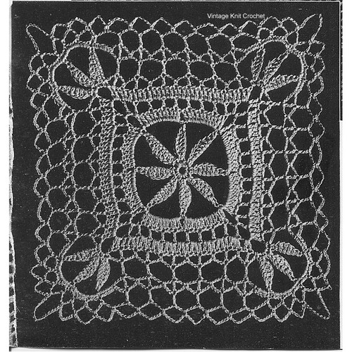 Crocheted Medallion Pattern for Tablecloth, Runner, Mats