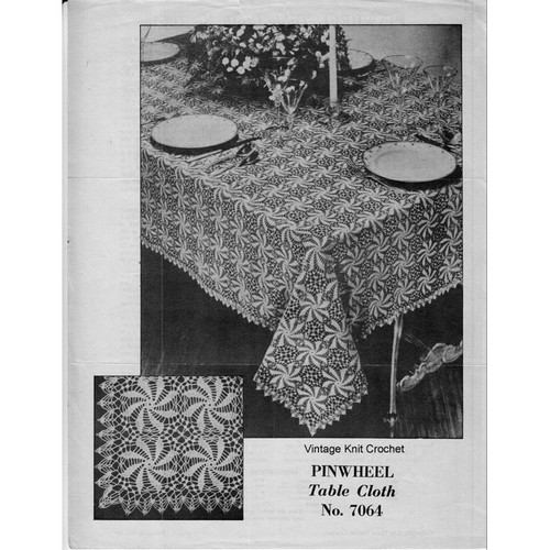 Pinwheel Tablecloth Crochet Pattern No 7064