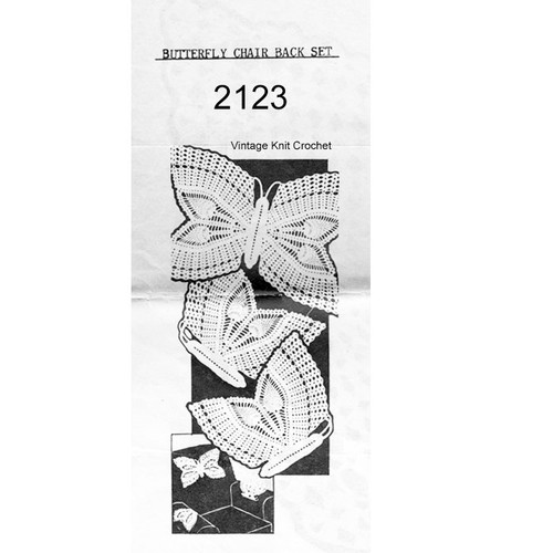 Butterfly Chair Doily Crochet Pattern No 2123