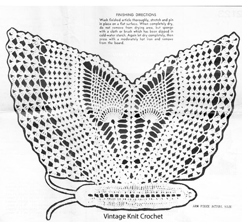Crochet butterfly illustration for Anne Cabot 2123