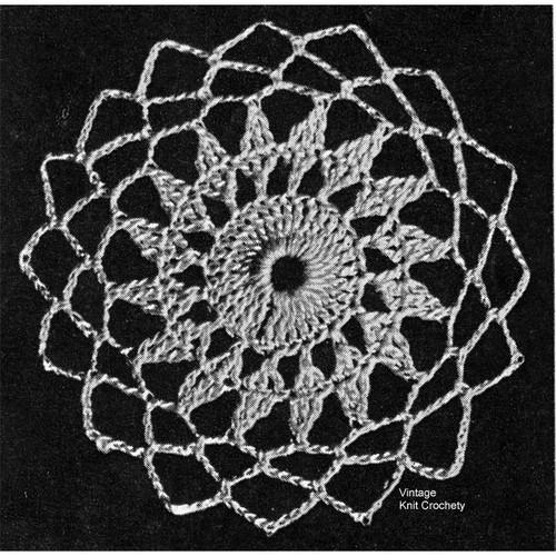 Flower Medallion Crochet Illustration