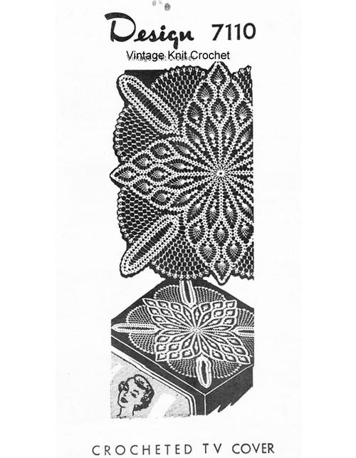 Pineapple Crochet Cloth Pattern, Design 7110