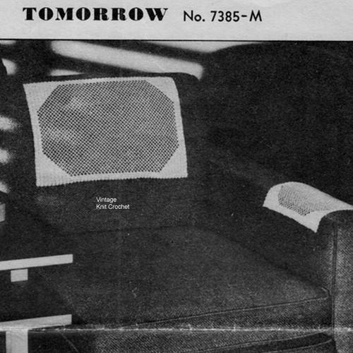 Vintage Shell Crochet Chair Set Pattern No 7385-M