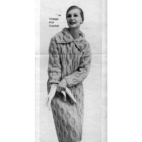 Vintage Cable Coat Knitting Pattern