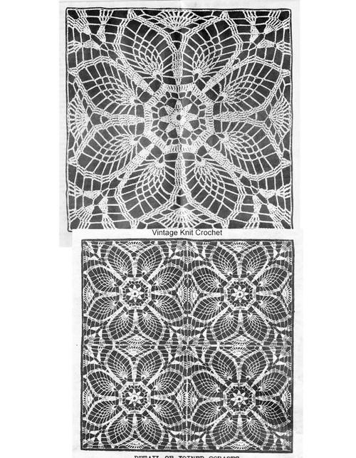 Pineapple Crocheted Square pattern, Laura Wheeler 2018