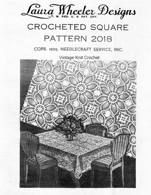 Pineapple Crochet Tablecloth Pattern, Mail Order Design 2018