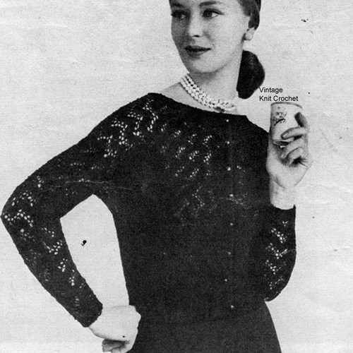 Knitted Lace Evening Blouse Pattern
