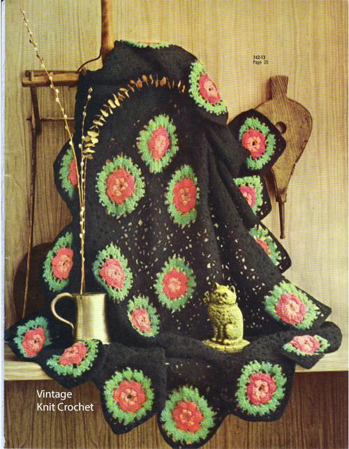 Crochet Rose Medallion Afghan