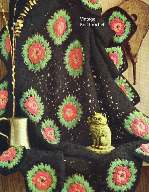 Easy Rose Medallion Crochet Pattern No 742