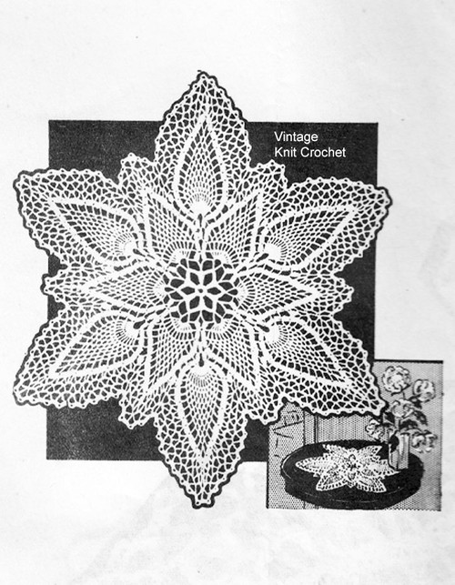 Anne Cabot Crochet Star Doily Pattern No R-2993