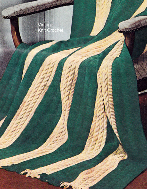 Cable Afghan Knitting Pattern
