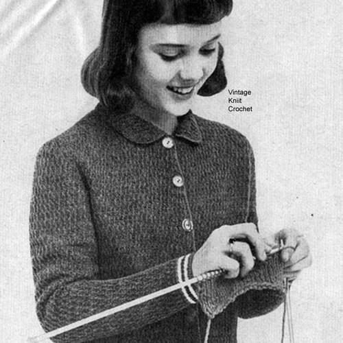 Crochet Girls Cardigan Pattern in Afghan Stitch