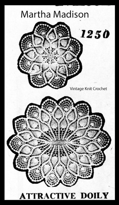 Pineapple Doilies, Round Oval, Martha Madison 1250