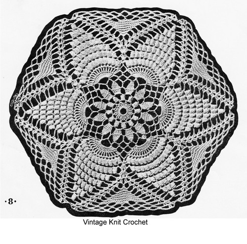 Large Flower Medallion in Popcorn Stitch