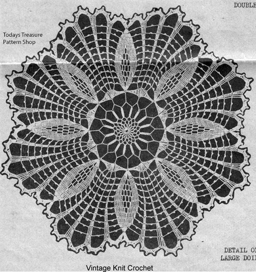 Mail Order Pineapple Crochet Doily Pattern in 6 sizes