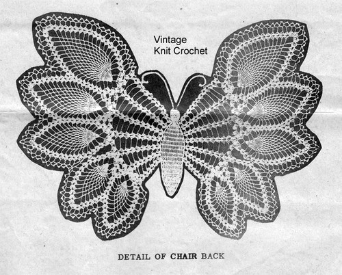 Butterfly Crochet Pattern Stitch Illustration, Design 7746