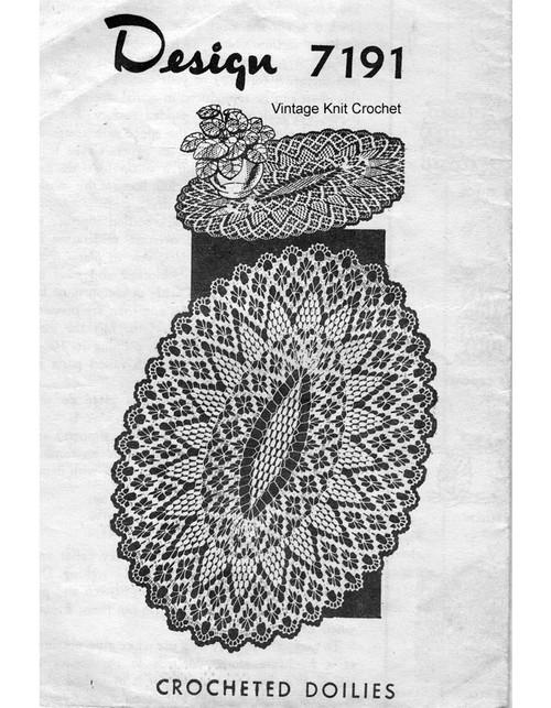 Petal Stitch crochet doily pattern, Mail Order 7191