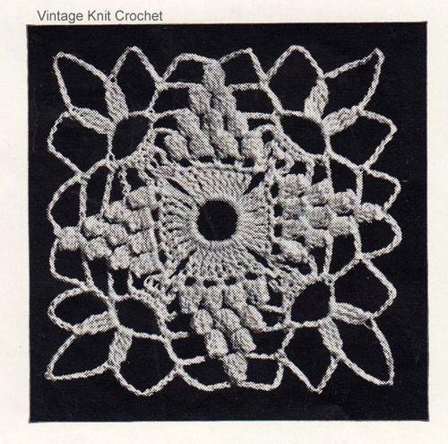 Small Crochet Medallion Pattern Illustration