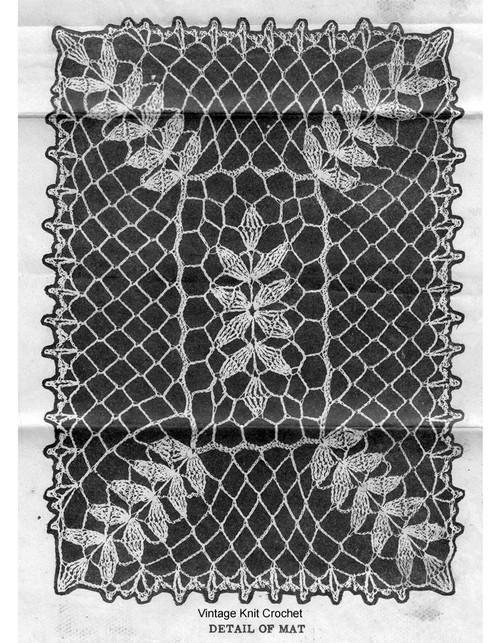 Petal Stitch Runner Crochet Pattern Illustration