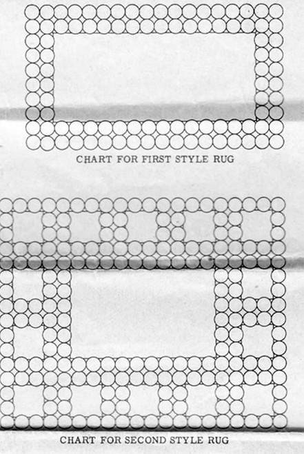 Crochet Rag Rug Pattern, Flower Medallions, Alice Brooks 7536