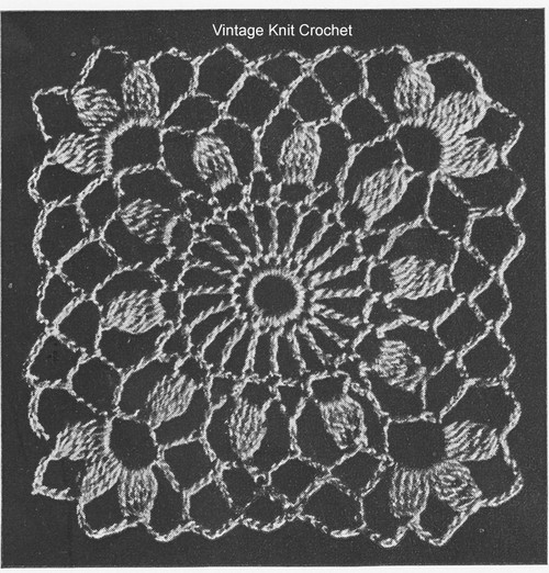 Small Cluster Stitch Medallion Pattern, 2-3/8 inches