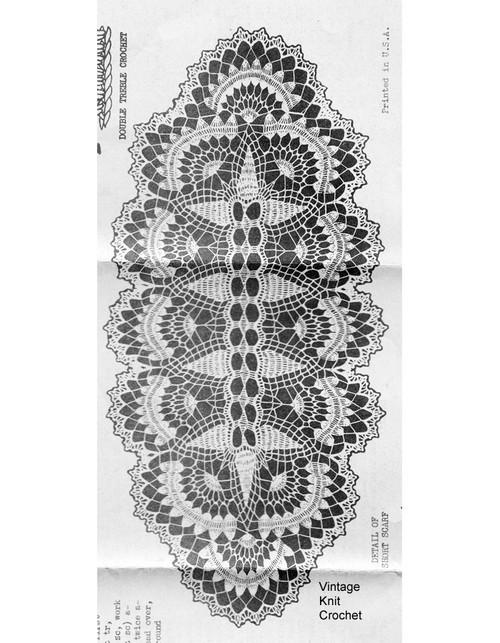 Long Crochet Runner Pattern, Laura Wheeler 634