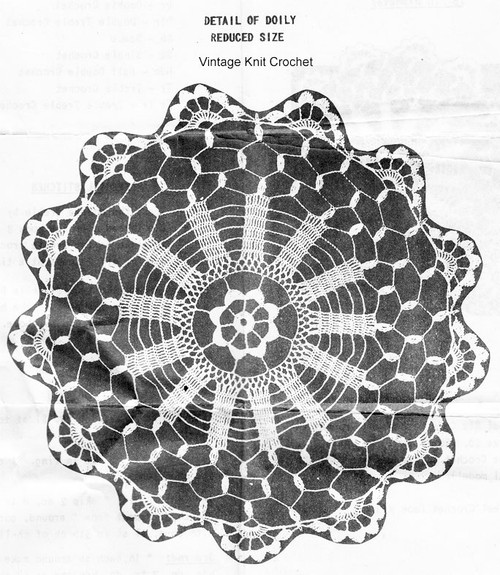 Wheel Doily Crochet Pattern, Peggy Roberts R-2557