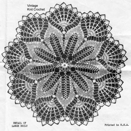 Crochet Doily, Shell Border, Vintage Alice Brooks 6272