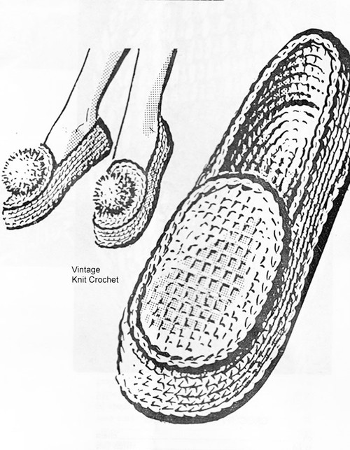 Easy Loafers Crochet Pattern No 5644