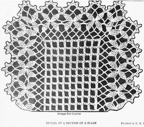 Clover Leaf Runner Crochet Pattern Illustration Design 7127