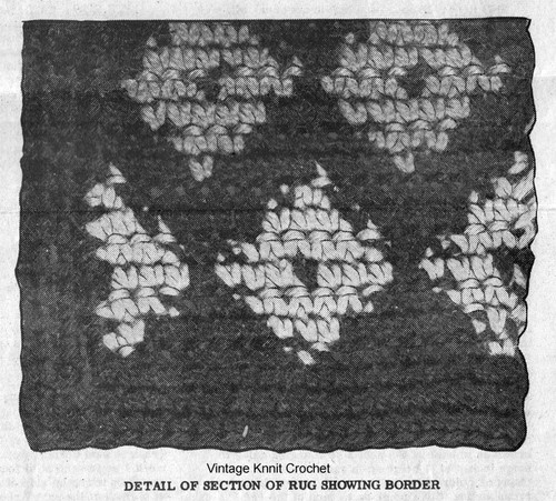 Crochet Rug Pattern Detail for Mail Order 7110